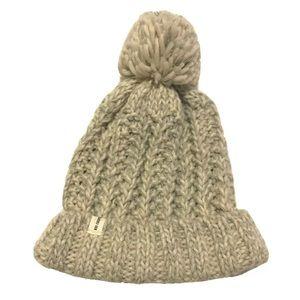 Rei Cooperative Knit Beanie Hat Pom Pom Rib Marled
